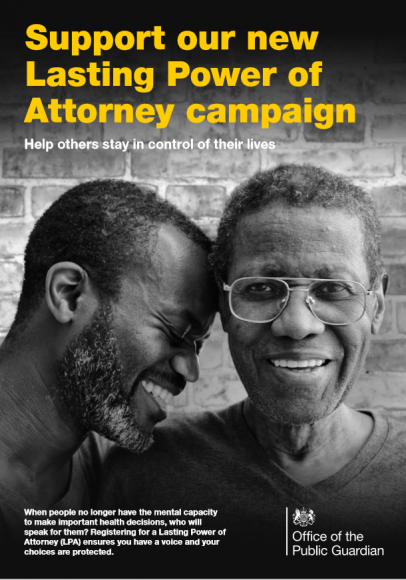 Poster supporting our new Lasting Power of Attorney campaign
